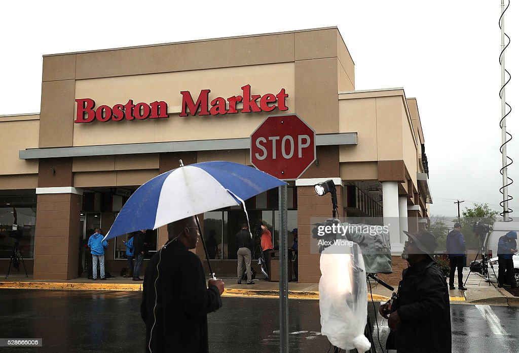 A Boston Market is seen May 6, 2016 at Northgate Plaza in Aspen Hill, Maryland. A shooting suspect was arrested on the parking lot outside of the restaurant after a couple deadly shootings in which two people were killed and two injured in two separate shootings in Montgomery County, Maryland.