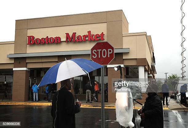 Boston Market is seen May 6 2016 at Northgate Plaza in Aspen Hill Maryland A shooting suspect was arrested on the parking lot outside of the...