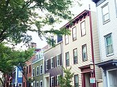 Photographs of townhomes and condos in Boston Massachusetts.