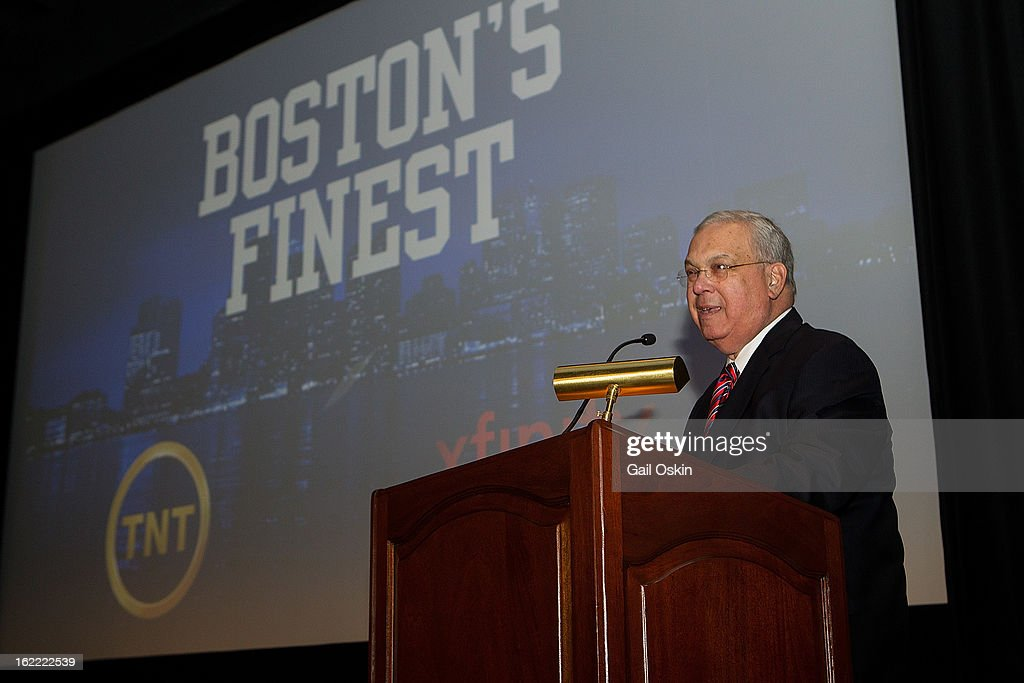 Boston Mayor Thomas Menino attends TNT's 'Boston's Finest' premiere screening at The Revere Hotel on February 20, 2013 in Boston, Massachusetts.