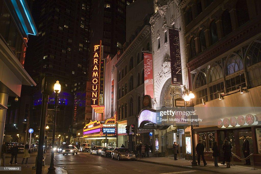 Boston Night : Stock Photo