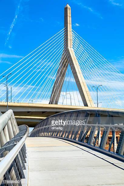 Boston - North Bank Walkway and Zakim Bridge