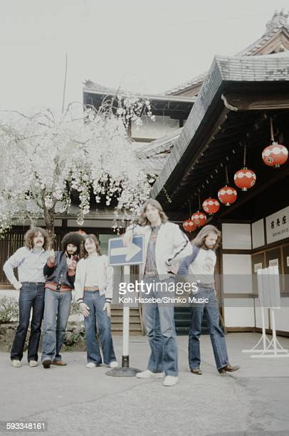 Boston photo session in front of Japanesestyle architecture Tokyo April 1979