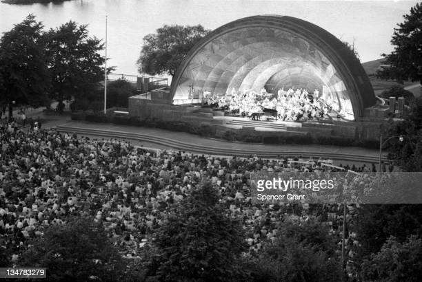 Boston Pops summer concert at Hatch Shell Charles River Embankment Boston Massachusetts 1971
