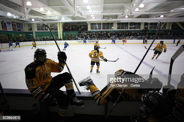 Boston Pride players Denna Laing and Rachel Llanes take to the ice during interchange with Corinne Buie and Jillian Dempsey during the Connecticut...