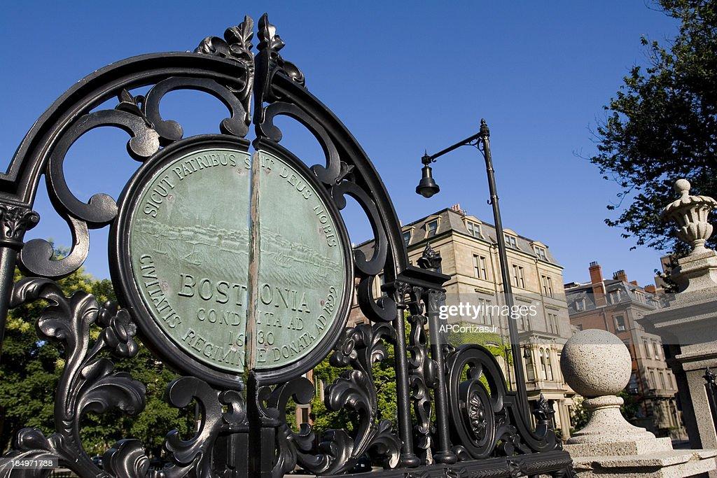 Boston Public Garden Gate Entrance