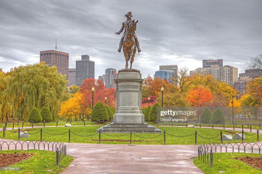 Boston Public Garden in Autumn