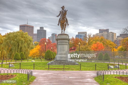 Boston Public Garden in Autumn