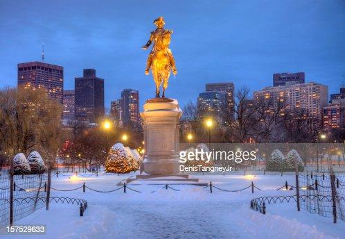 ボストンパブリックガーデンの冬