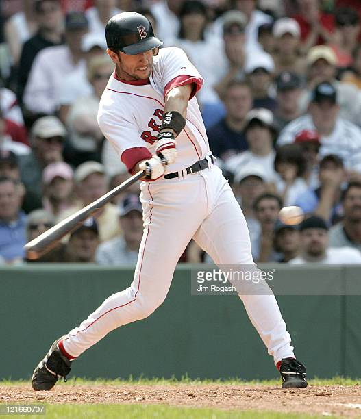 Boston Red Sox batter Nomar Garciaparra connects against the Texas Rangers The Rangers beat the Red Sox 65 at Fenway Park in Boston Massachusetts on...