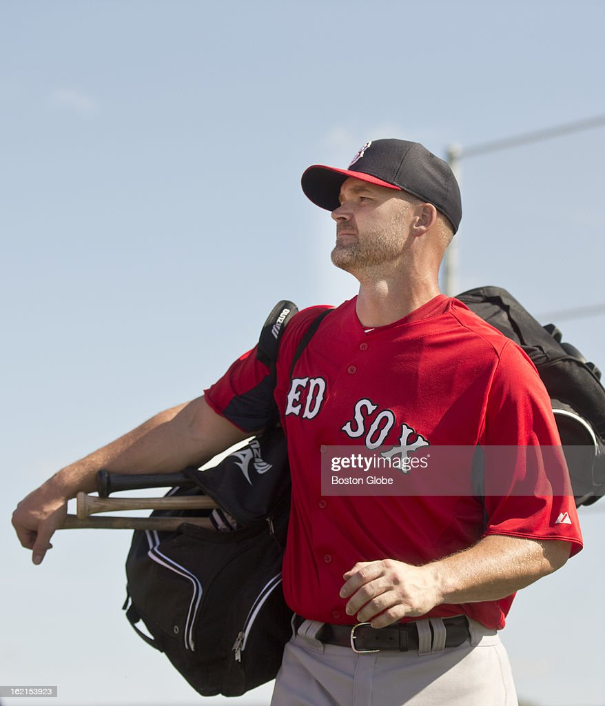 Boston Red Sox catcher David Ross during spring training at JetBlue Park on Tuesday, Feb. 19, 2013.
