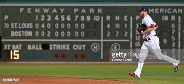 Boston Red Sox closing pitcher Craig Kimbrel comes into the game to start the top of the ninth inning The Boston Red Sox host the St Louis Cardinals...
