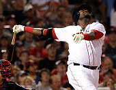 Boston Red Sox designated hitter David Ortiz popped the ball up but reached first base when the ball was dropped during the fourth inning of a game...
