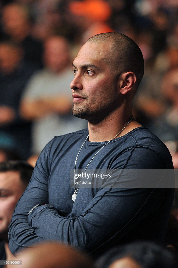 Boston Red Sox MLB player Shane Victorino attends the UFC 167 event at the MGM Grand Garden Arena on November 16, 2013 in Las Vegas, Nevada.