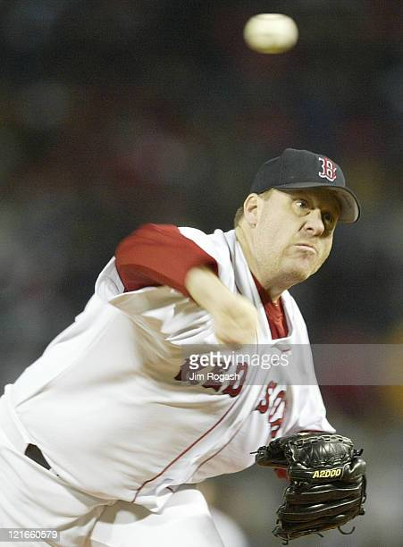 Boston Red Sox pitcher Curt Schilling throws against the Oakland Athletics Tuesday May 25 at Fenway Park in Boston