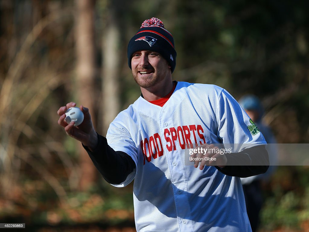 Boston Red Sox player Will Middlebrooks at a whiffle ball charity event in Hingham.
