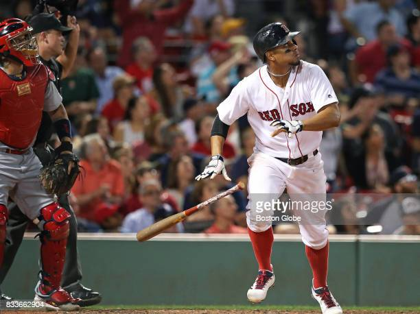 Boston Red Sox player Xander Bogaerts gets the Sox comeback started in the ninth inning with a lead off solo home run The Boston Red Sox host the St...