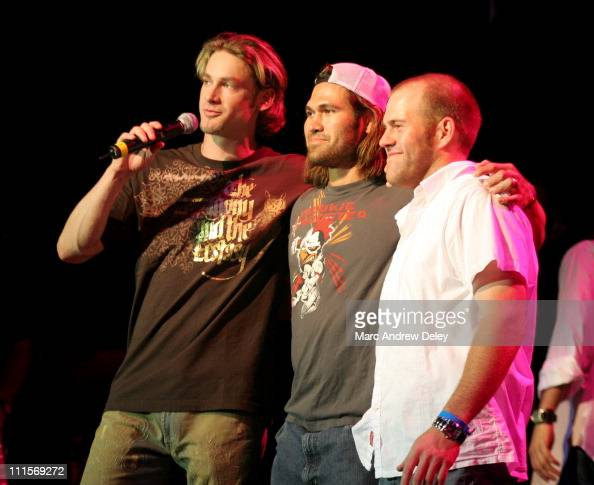 Boston Red Sox players Bronson Arroyo Johnny Damon and Kevin Youkilis