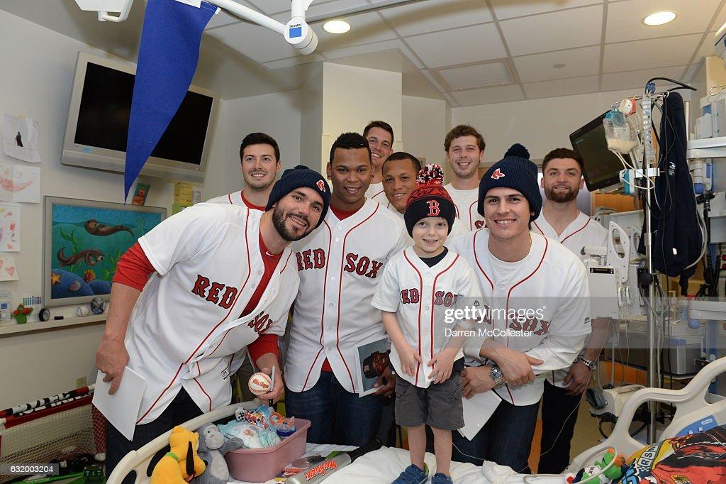 Red Sox Rookies Visit Boston Children's Hospital