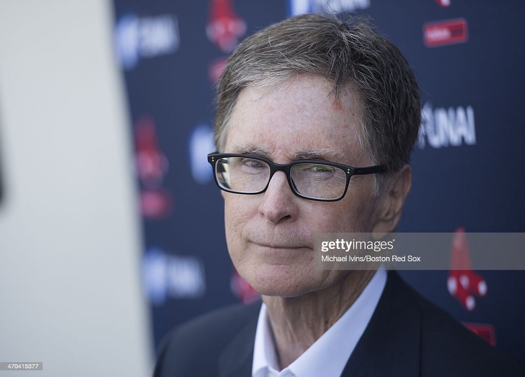Boston Red Sox Principal Owner <a gi-track='captionPersonalityLinkClicked' href=/galleries/search?phrase=John+W.+Henry&family=editorial&specificpeople=2748752 ng-click='$event.stopPropagation()'>John W. Henry</a> answers questions during a press conference at Fenway South on February 19, 2014 in Fort Myers, Florida.