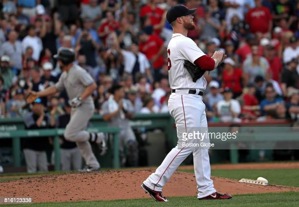 Boston Red Sox relief pitcher Craig Kimbrel blew the 10 lead giving up the game tying run on a solo home run to New York Yankees designated hitter...