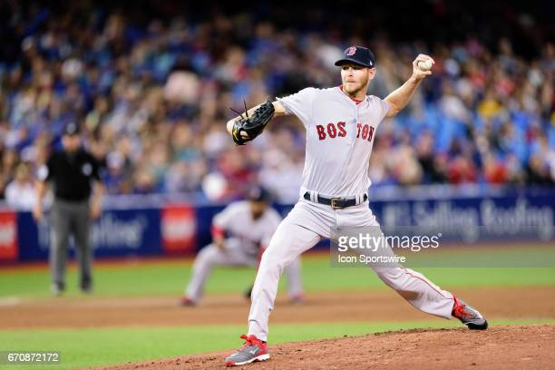 Boston Red Sox Starting pitcher Chris Sale throws a pitch during the MLB regular season game between the Toronto Blue Jays and the Boston Red Sox on...