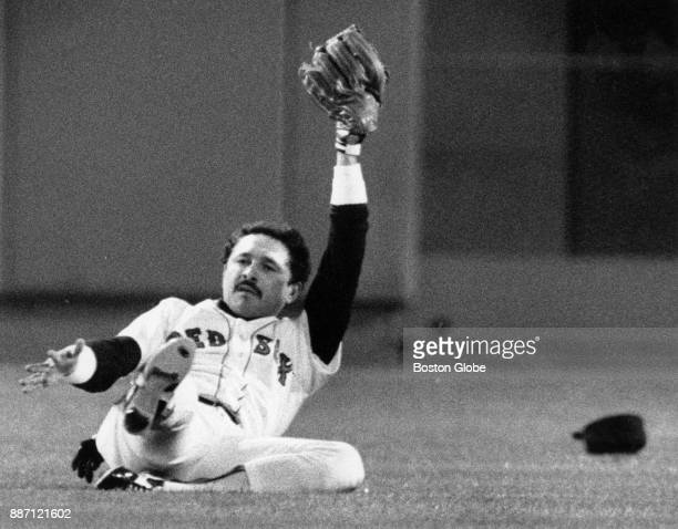 Boston Red Sox Tony Armas makes a catch during a game against the Baltimore Orioles at Fenway Park in Boston Sept 28 1984