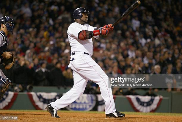 Boston Red Sox's David Ortiz hits a tworun walkoff homer in the 12th inning to stave off elimination winning Game 4 of the American League...