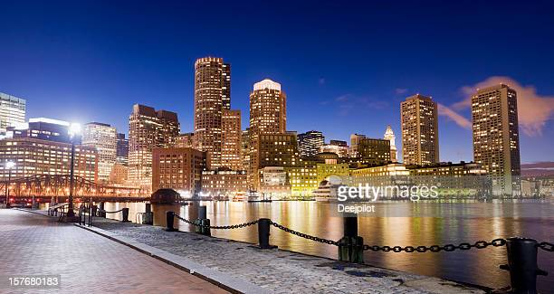 Boston Rowes Wharf City Skyline in the USA
