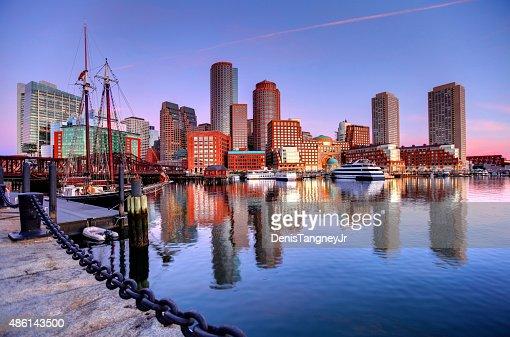 Boston Skyline along the Harborwalk