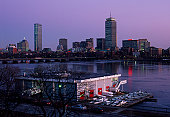 MIT's Charles River Boathouse and Boston Back Bay