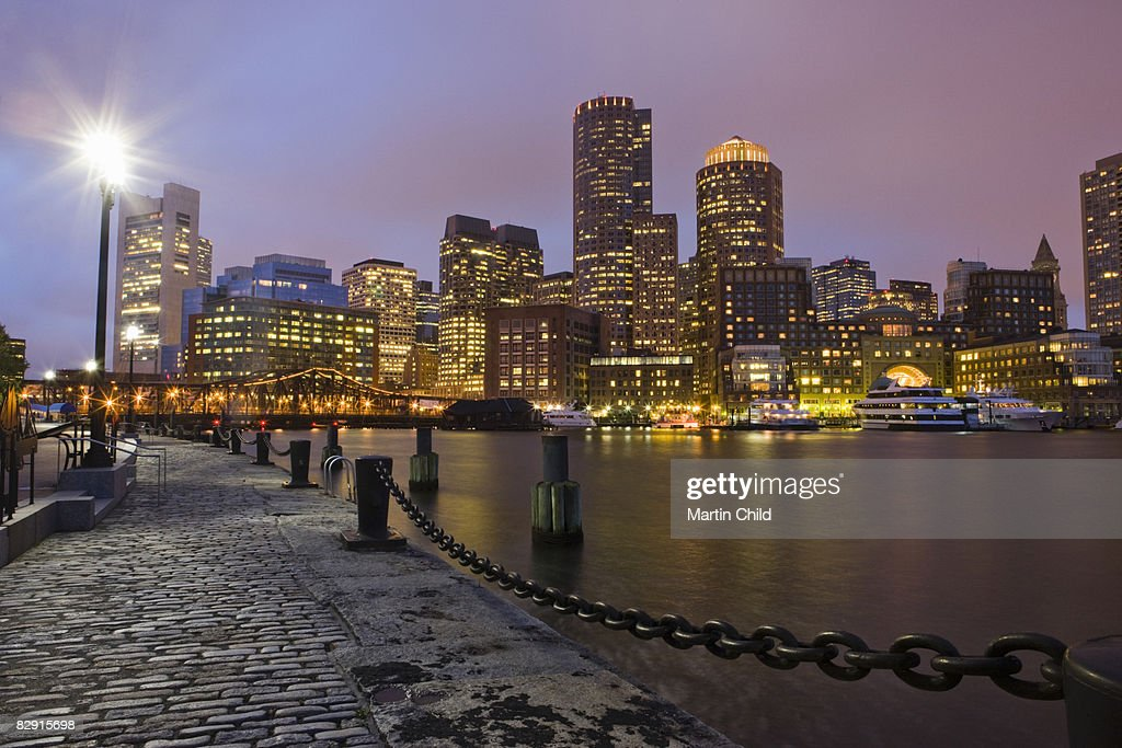 Boston skyline, Financial District : Stock Photo