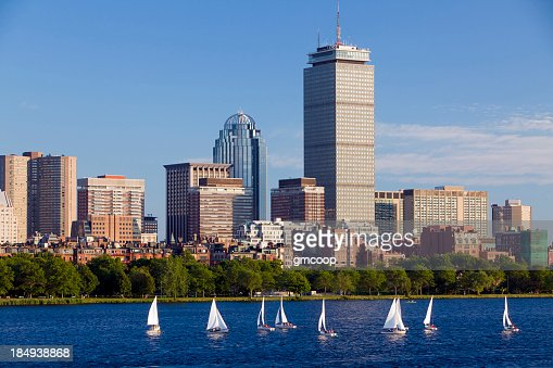 ボストンの街並みと水平