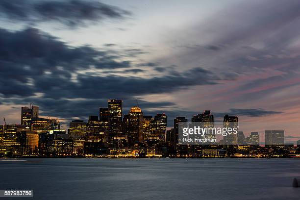 Boston Skyline in Boston MA on August 6 2015