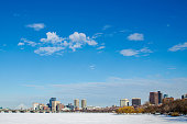 Picture taken of a Boston skyline in Massachusetts, USA