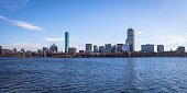Boston skyline and Charles River seen from Cambridge - Massachusetts, USA
