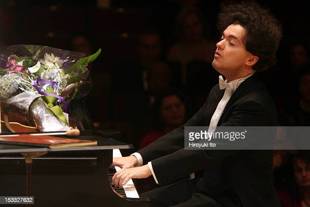 Boston Symphony Orchestra at the opening night gala at Carnegie Hall on Thursday night October 1 2009This imageEvgeny Kissin performing...