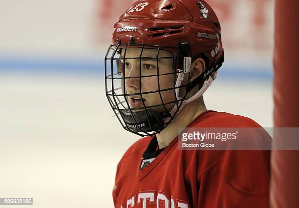 Boston University hockey player Jakob ForsbackaKarlsson during the practice at Agganis Arena in Boston on March 2 2016