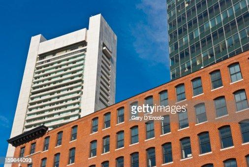 Boston watefront architecture : Stock Photo