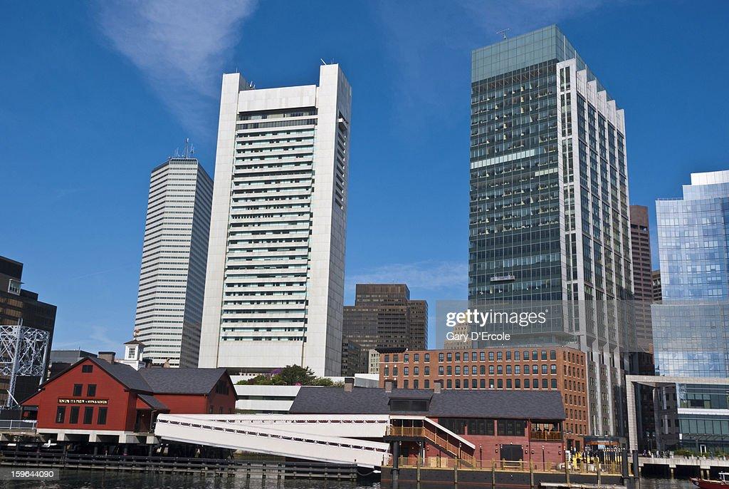 Boston waterfront architecture : Stock Photo