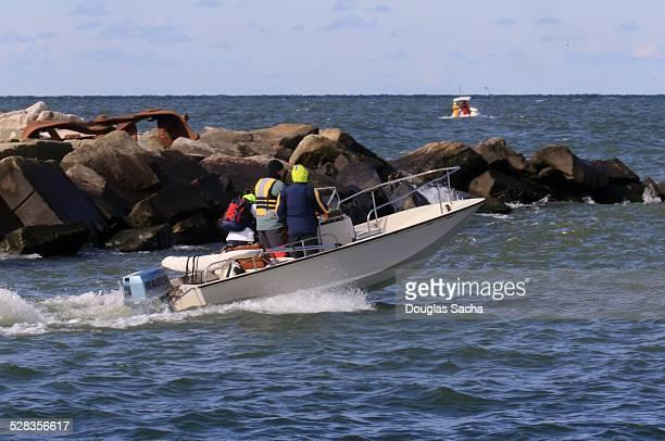 Boston whaler in motion