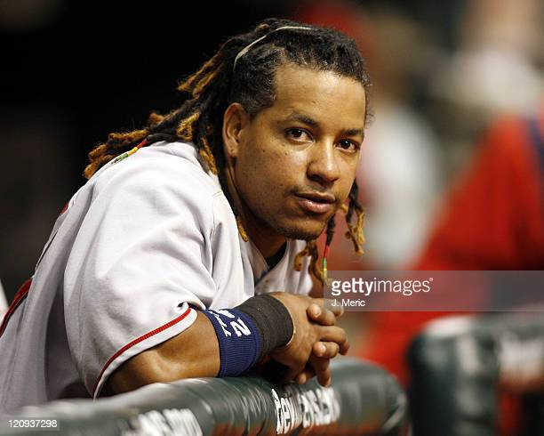 Boston's Manny Ramirez prepares to bat during Tuesday's action against Tampa Bay at Tropicana Field in St Petersburg Florida on July 4 2006