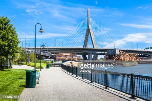 Boston's NorthPoint Park and Zakim Bridge