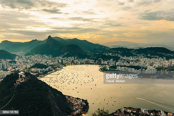 Botafogo bay at dusk, Rio de Janeiro