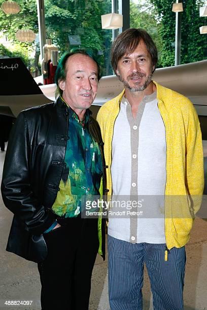 Botanist Patrick Blanc and contemporary artist Marc Newson attend the 'Fondation Cartier pour l'art contemporain' celebrates its 30th anniversary on...