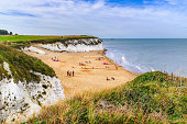 Botany Bay a golden beach on the Thanet, Kent coast on the south east coast of England. Botany Bay is the northernmost of seven bays in Broadstairs.
