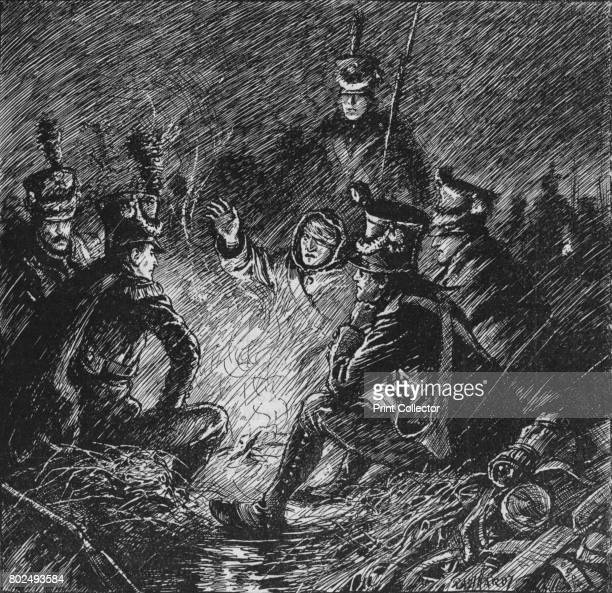 Both French and Allies Bivouacked in Mud and Water' 1902 The Battle of Dresden important event of the Napoleonic Wars From Battles of the Nineteenth...