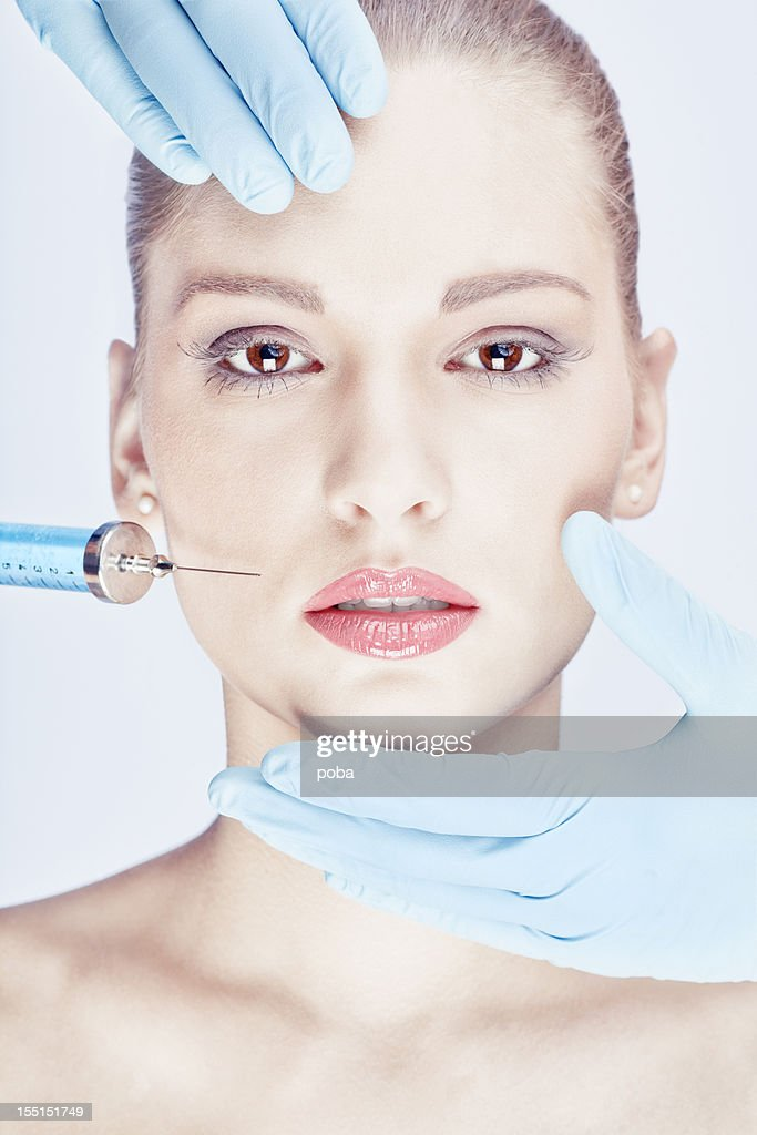 Botox is injected  with help  professional practitioners
