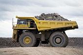 Botswana, Orapa, dumptruck at largest diamond min in world