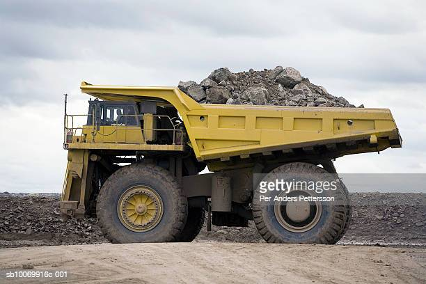 Botswana, Orapa, dumptruck at largest diamond min in world